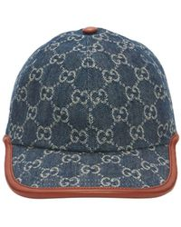 Gucci Gg Vintage キャップ - ブルー
