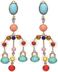 Elie Saab Chandelier Multicolored Earrings