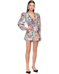 Daniele Carlotta Printed Silk Twill Mini Dress - Multicolor