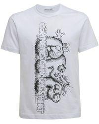 Comme des Garçons Kaws コットンジャージーtシャツ - ホワイト