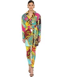 Versace ビスコース混コーティングジャケット - マルチカラー