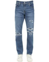 Levi's 512 Tapered Skinny Cotton Denim Jeans - Blue