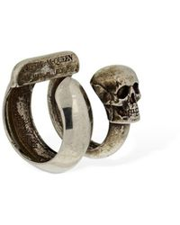 Alexander McQueen Double Wrap Skull Mono Ear Cuff - Metallic