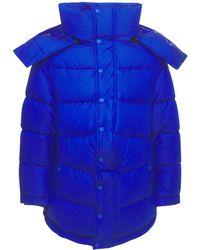Balenciaga Стеганая Куртка Из Нейлона - Синий