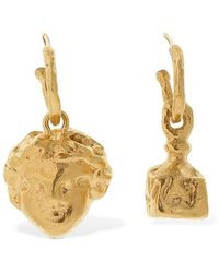 Alighieri Casella & The Music Asymmetric Earrings - Mettallic