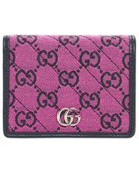 Gucci Кошелек Gg Marmont Multicolor - Многоцветный