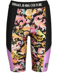 Versace Jeans Couture Shorts Biker In Jersey Stretch - Multicolore