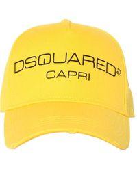 DSquared² Бейсбольная Кепка Из Хлопкового Канваса - Желтый
