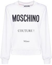 Moschino Couture Milano コットンスウェットシャツ - ホワイト