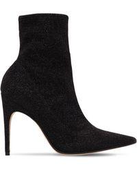 Sergio Rossi - 105mm Stretch Lurex Ankle Boots - Lyst