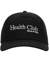 Sporty & Rich Health Club ベースボールキャップ - ブラック