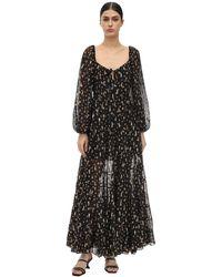 RIXO London Платье Макси Cameron С Принтом - Черный