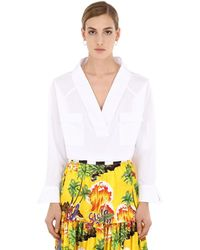 Stella Jean Camicia In Cotone - Bianco