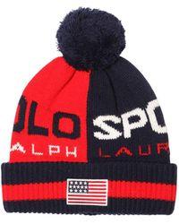 Polo Ralph Lauren Strickmütze Aus Wollmischung - Rot