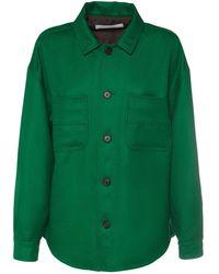 Philosophy Di Lorenzo Serafini ウールツイシャツジャケット - グリーン
