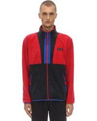 Columbia Back Bowl Fz Zip-up Sweatshirt - Rojo