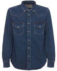 DIESEL Western コットンデニムシャツ - ブルー