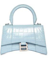 Balenciaga Сумка Из Кожи С Тиснением Xs Hourglass - Синий
