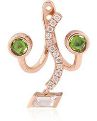 Ruifier The Violetta Mono Earring - Green