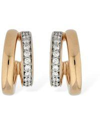 Pomellato Iconica 18kt & Diamond Hoop Earrings - Metallic