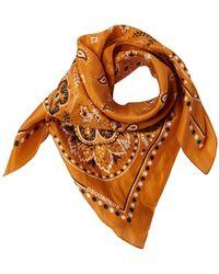 DSquared² Шелковая Бандана С Принтом - Оранжевый