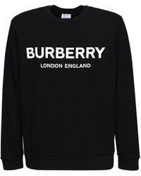 Burberry ランスロー コットンスウェットシャツ - ブラック