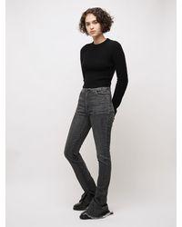 Sportmax Straight Leg Cotton Denim Pants - Grey
