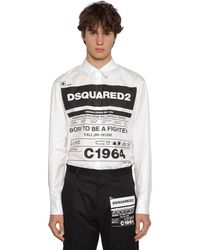 DSquared² Camicia In Popeline Di Cotone Stretch - Multicolore