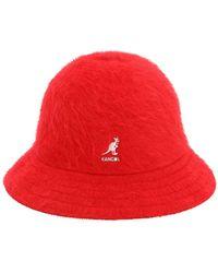 Kangol Furgora Casual Angora Blend Bucket Hat - Red