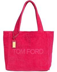 Tom Ford Sac Cabas En Velours - Rose