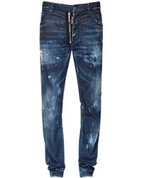 DSquared² Jean Cool Guy En Denim De Coton 16,5 Cm - Bleu