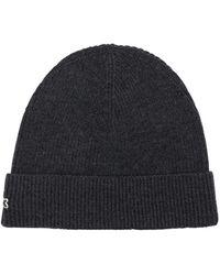 Lacoste ウールニットビーニー帽 - ブラック