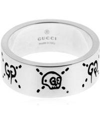 Gucci Bague en argent Ghost - Métallisé