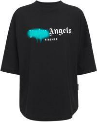Palm Angels Lvr Exclusive Spray Logo オーバーサイズtシャツ - ブラック