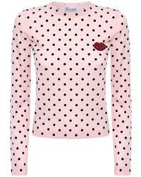 RED Valentino ライトウールニットセーター - ピンク