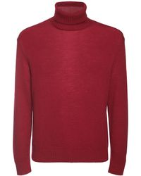 Jil Sander Plus Fine Wool Turtleneck Jumper - Red