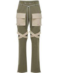 "Lifted Anchors Pantalones Cargo ""newport"" Con Correas - Verde"