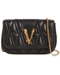 Versace - キルトレザーショルダーバッグ - Lyst