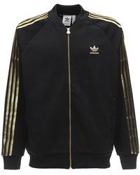 adidas Originals 24k Nylon Track Jacket W/ Stripes - Schwarz