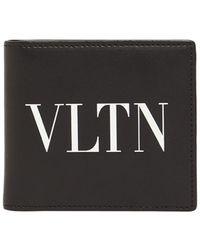 Valentino Garavani - Valentino Garavani Vltn Leather Billfold Wallet - Lyst