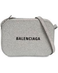 """Balenciaga Kameratasche Aus Glitzerleder """"everyday"""" - Mettallic"""