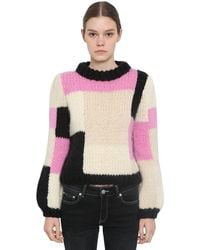 Ganni Color Block Sweater - Pink
