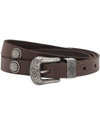Polo Ralph Lauren 2cm Leather Belt - Brown