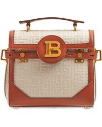 Balmain Bbuzz 23 Monogram キャンバスバッグ - ブラウン