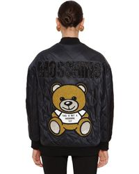 Moschino - Quilted Bomber Jacket - Lyst