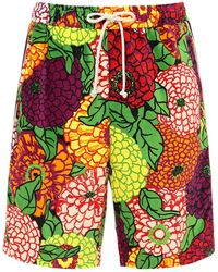 Gucci Baumwollshorts Mit Ken Scott-print - Mehrfarbig
