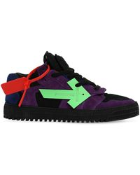 """Off-White c/o Virgil Abloh Sneakers """"Off Court"""" In Camoscio - Nero"""