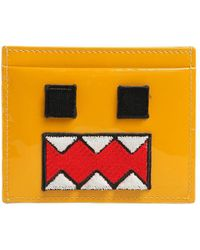 Les Petits Joueurs Monster Patent Leather Card Holder - Yellow