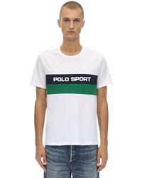 Polo Ralph Lauren T-Shirt mit Logo-Streifen - Weiß