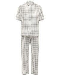 The Sleep Shirt コットンフランネルパジャマセット - グレー